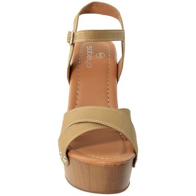 Retro Platform Sandal - Taupe Women - Shoes Tigerlily and Me