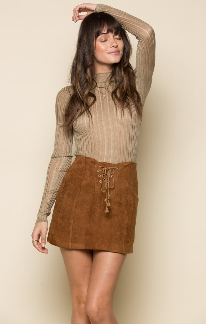 RIVKA FAUX SUEDE SKIRT Women - Apparel - Skirts Tigerlily and Me
