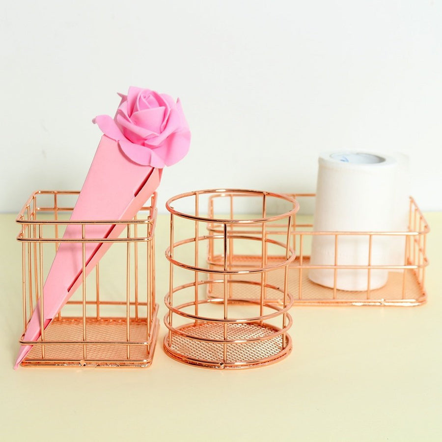Rose Gold & Gold Organizers Home - Storage Tigerlily and Me