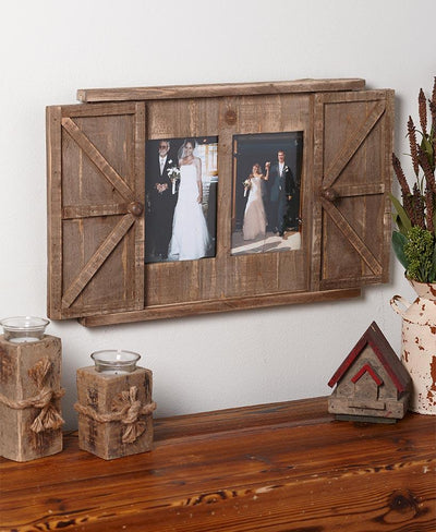 Rustic Barn Door Photo Frames Home - Decor Accents Tigerlily and Me