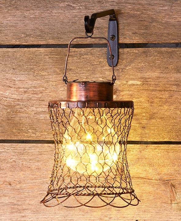 Rustic Chicken Wire Solar Lanterns Home - Lighting Tigerlily and Me