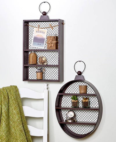 Rustic Metal Wall Shelves Home - Decor Accents Tigerlily and Me