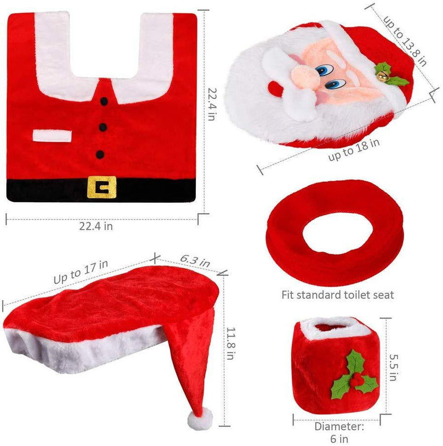 Santa Toilet Set Home - Bathroom Accessories Tigerlily and Me