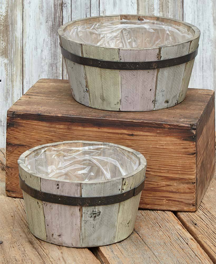 Set of 2 Lined Basket Planters Home - Decor Accents Tigerlily and Me