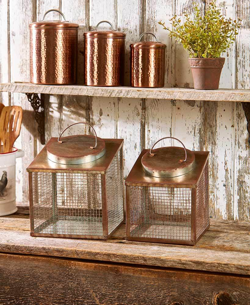 Set of 2 Rustic Country Vegetable Bins Home - Kitchenware Tigerlily and Me