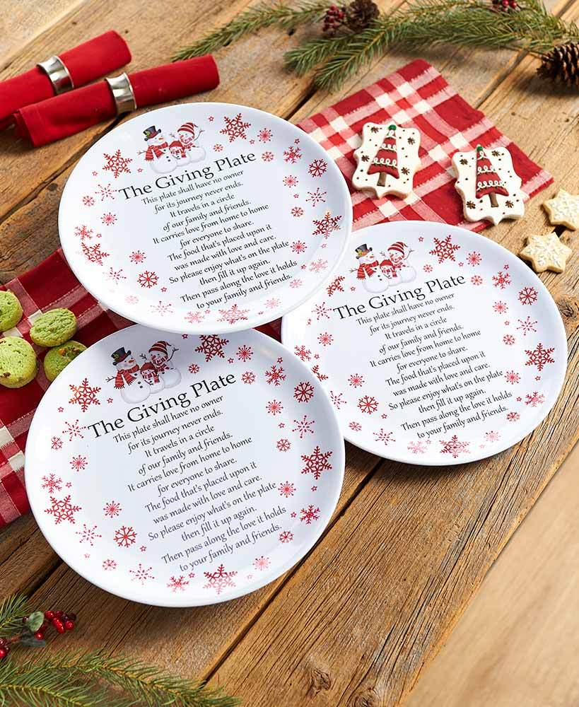 Sets of 3 Melamine Giving Plates Home - Decor Accents Tigerlily and Me