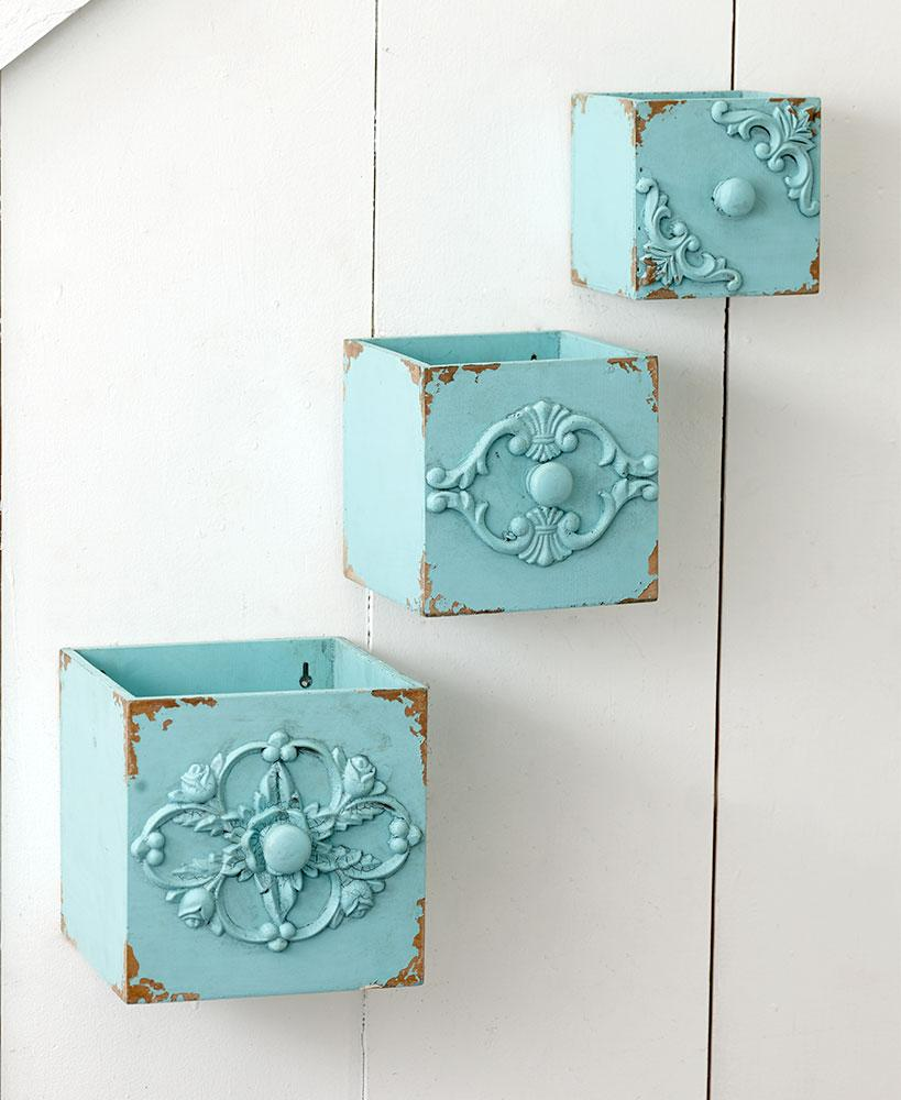 Sets of 3 Vintage-Inspired Wall Boxes Home - Decor Accents Tigerlily and Me