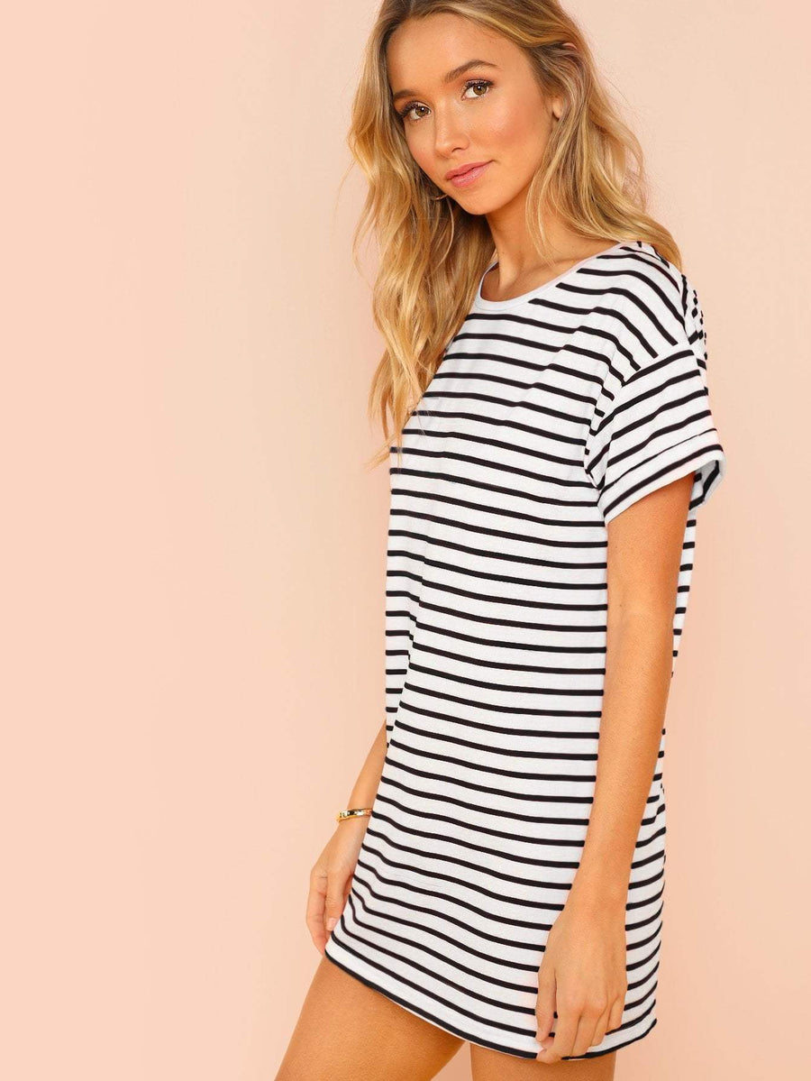 Striped Tee Dress Women - Apparel - Dresses - Casual Tigerlily and Me