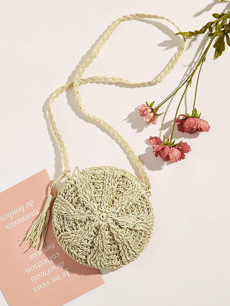 Tassel Straw Crossbody