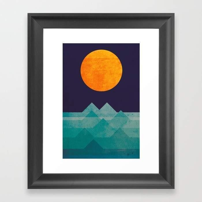 The ocean the sea the wave - night scene Home - Wall Art Tigerlily and Me
