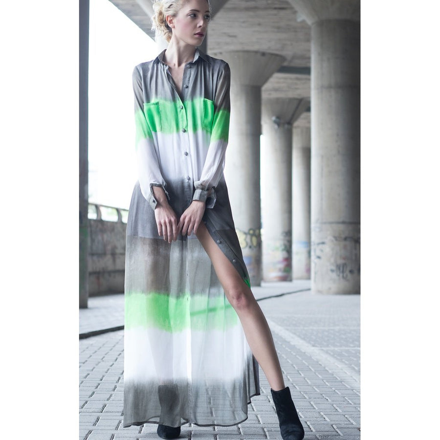 Tri Color Shirt Dress Women - Apparel - Dresses - Casual Tigerlily and Me