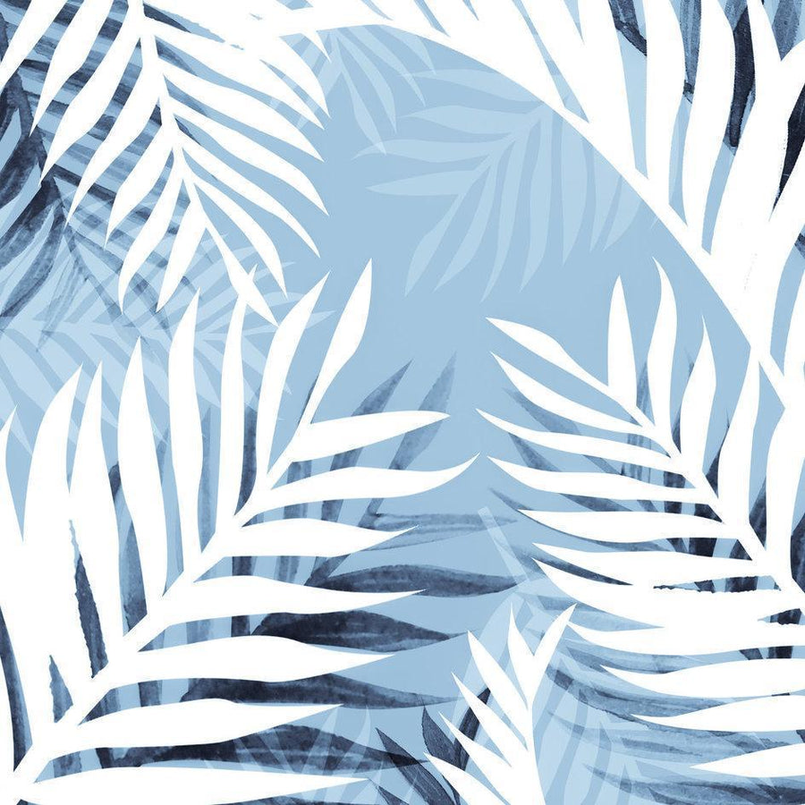Tropical bliss - chambray blue Pillow