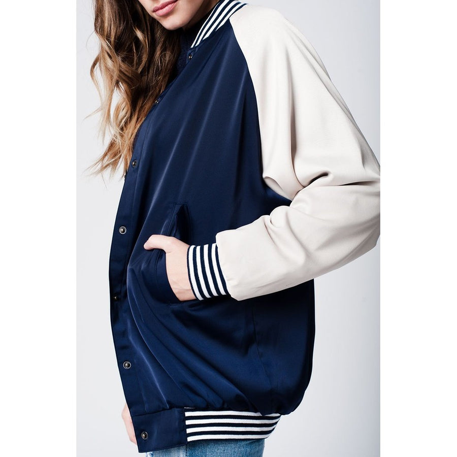 Varsity Boyfriend Bomber Jacket Women - Apparel - Sweaters Cardigans and Tops Tigerlily and Me