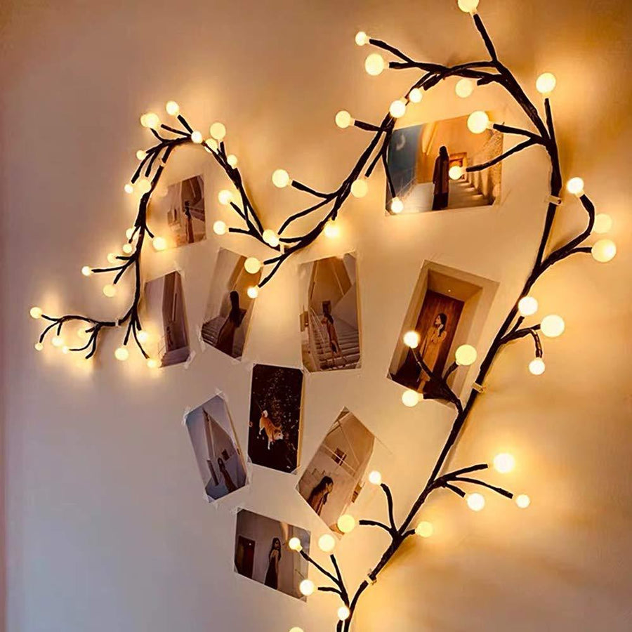Vine Branch Lighted Decor Home - Lighting Tigerlily and Me