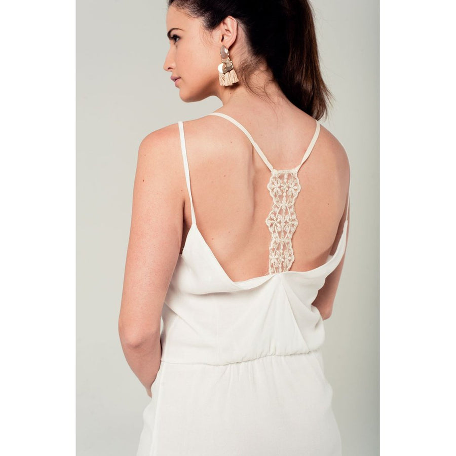 White mini dress with back crochet detail Women - Apparel - Dresses - Casual Tigerlily and Me