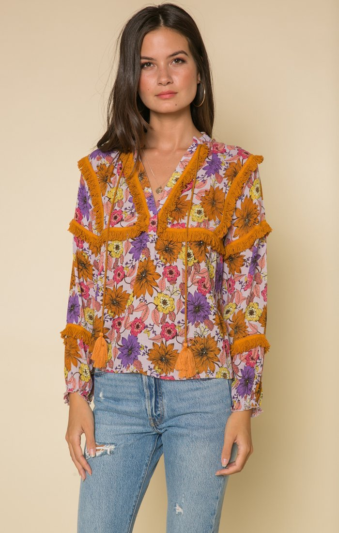 Wild Gardens Fringe Blouse Women - Apparel - Shirts - Blouses Tigerlily and Me