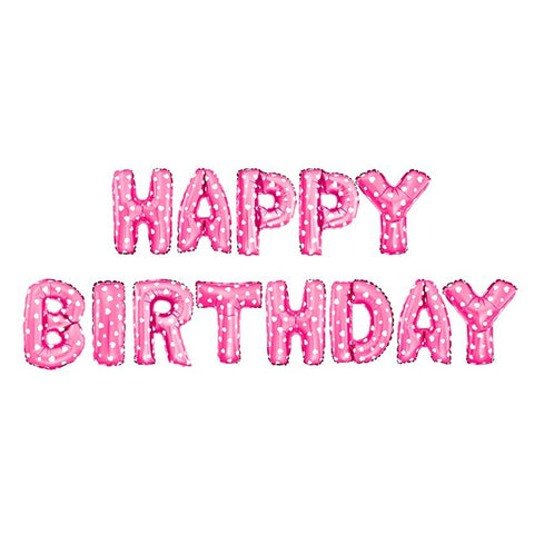 Pink Happy Birthday Letter Balloons.Fengrise 16 Inch 13 Pieceshappy Birthday Letters Balloons Party Decoration