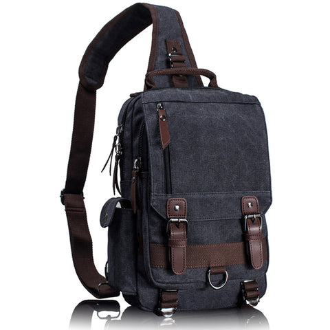 Single strap backpack military