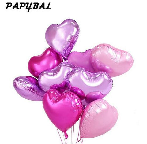 10pcs 18inch Romantic Heart Balloons