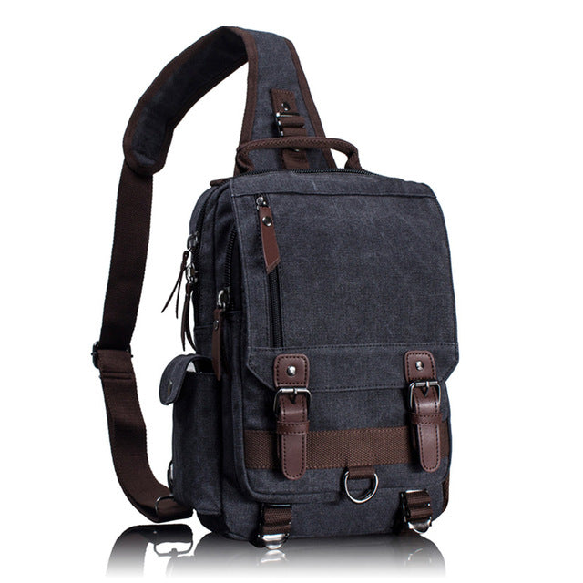Tourya Retro Leather Large Capacity Single Strap Backpack – Kudostuff b04e2704f2503