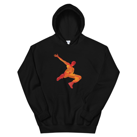 Parkour Pixelated Hoodie Red/Orange
