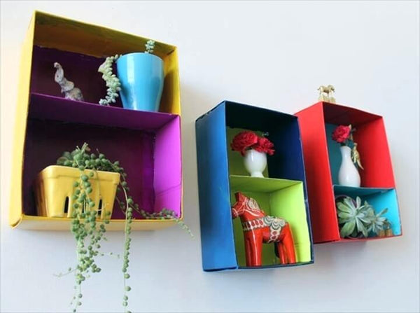 Shoe box shelves