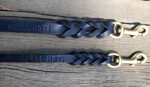 SKÖLLHATI BRAIDED LEATHER LEASH 3/4¨ WIDE 4ft/6ft