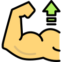 increase bicep muscles icon