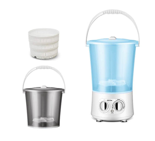 Multifunction Mini Portable Washing Machine with 2 Buckets