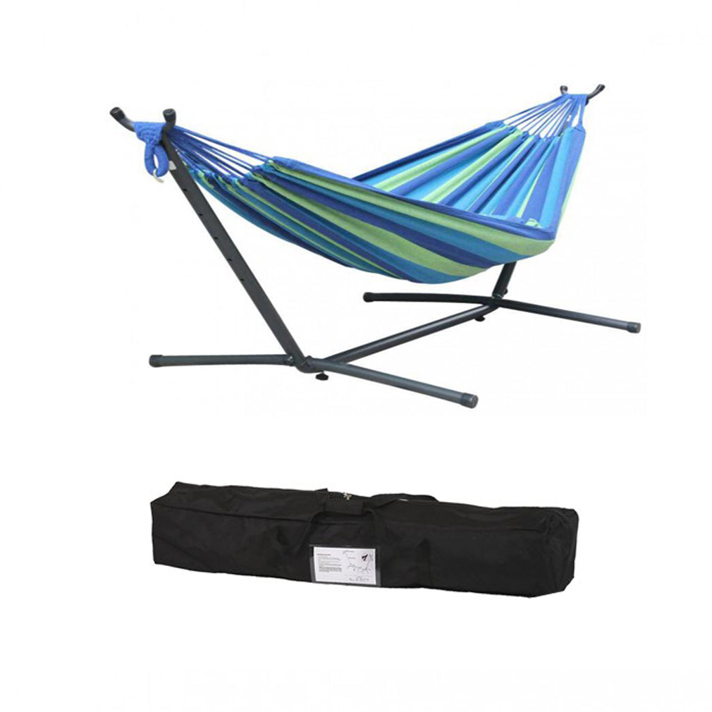 MSW Furniture High Quality Hammock with Space Saving Steel Stand Includes Portable Carrying Case