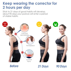 Smart Back Posture Corrector Trainer with Intelligent Sensor Vibration Reminder