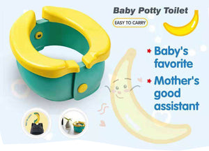 Toytexx Potty Training Seat Cute Banana Toilet Seat Trainer Portable Foldable Potty for Children Toddlers