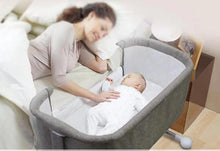 MSW Furniture for Kids Multifunctional Baby Bedside Bassinet Folding Portable Crib