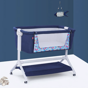 BabyTrace Multifunctional Baby Bedside Bassinet Sleeper Easy Folding Portable Crib