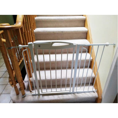High Quality Durable Steel Stairway Doorway Adjustable Baby Safety Gate Rai