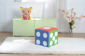 Kids Children's PU Leather Learning Upholstered Stool Toddler Chair - Dice - MSF03