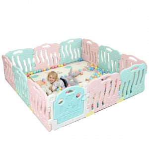 2M x 2M x 0.6M Baby Kid Playpen Panel Activity Center Safety Fence Playyard