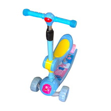 2-in-1 Kids 3-Wheel Tilt and Turn Kick Scooter with Foldable Seat, Adjustable Handle, LED Flashing Wheels for Ages 3-8 years old - 180-50