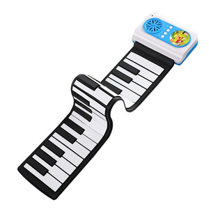 49-Key Mini Flexible Rollup Piano Adjustable Keyboard for Children Kids 3-6 Years Old