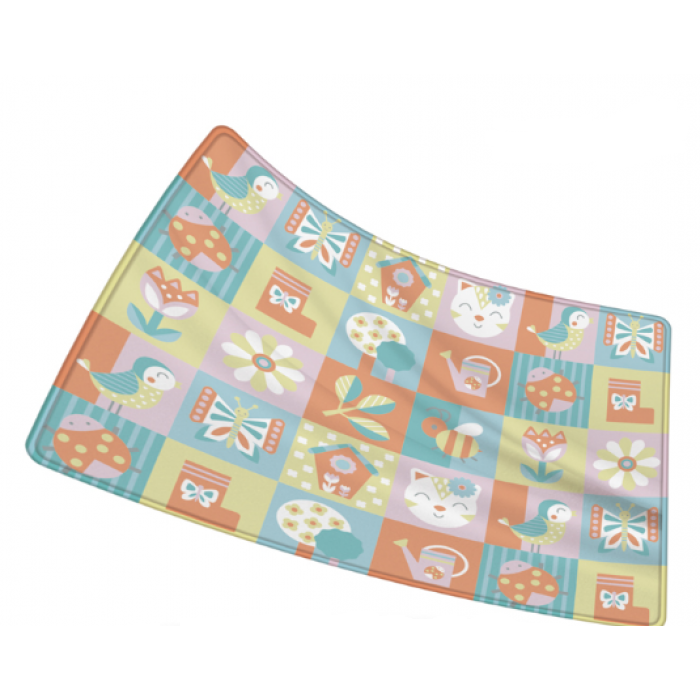 YingZhiLi Baby Power Silk Playmat Fabric Crawl Mat - 1.8 x 1.2 M