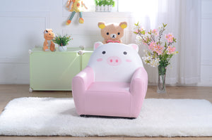 Kids Children Cute Pig Cartoon Reading Chair Sofa