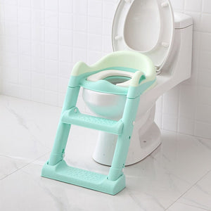 Kid's Ladder Potty Toilet Seat Adjustable Toilet Trainer