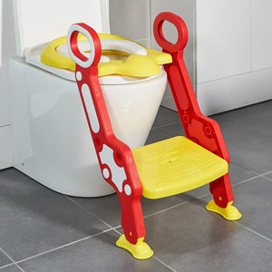 Toytexx Potty Toilet Seat Adjustable Baby Toddler Kid Toilet Trainer with Step Stool Ladder for Boys and Girls