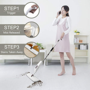 AURORA Water Spray Mop Washable Microfiber Clean Degerming Spray Mop