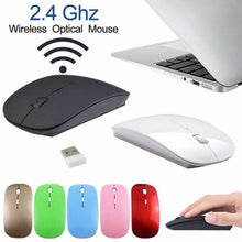 Ultra Slim USB Wireless Optical Mouse 2.4 GHz Receiver