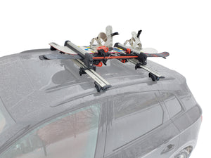BRIGHTLINES Roof Rack Cross Bars Ski Rack Combo Compatible with 2016-2020 Lincoln MKX ( Up to 4 Skis or 2 Snowboards) - ASG AUTO SPORTS