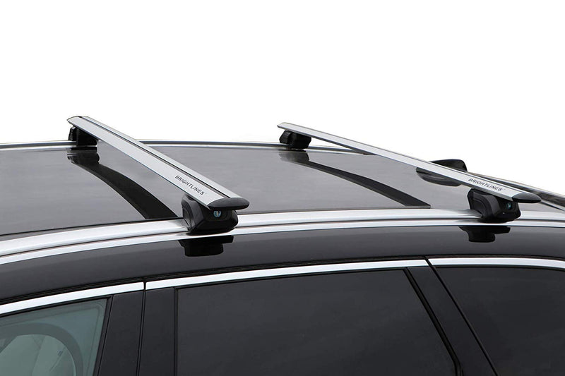 BRIGHTLINES Roof Rack Cross Bars Compatible with Mercedes Benz GLC 300 2016 2017 2018 2019 2020 - ASG AUTO SPORTS