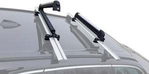 BRIGHTLINES Roof Rack Cross Bars Ski Rack Combo Compatible with Chevy Blazer 2019-2020 (Up to 4 Skis or 2 Snowboards) - ASG AUTO SPORTS