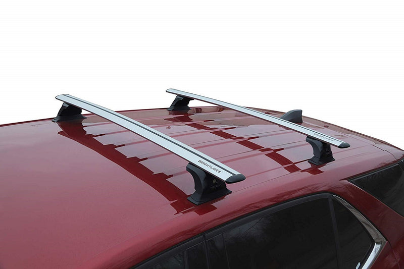 BRIGHTLINES Roof Rack Cross Bars Compatible with Chevy Equinox Without Roof Rail 2018-2019 - ASG AUTO SPORTS