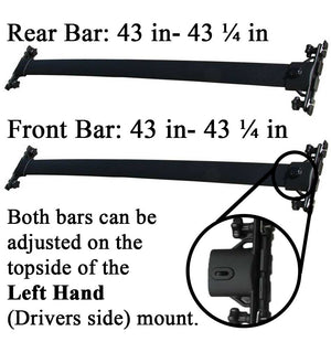 BrightLines Roof Rack Crossbars  Replacement For Toyota Highlander 2008-2013 - ASG AUTO SPORTS
